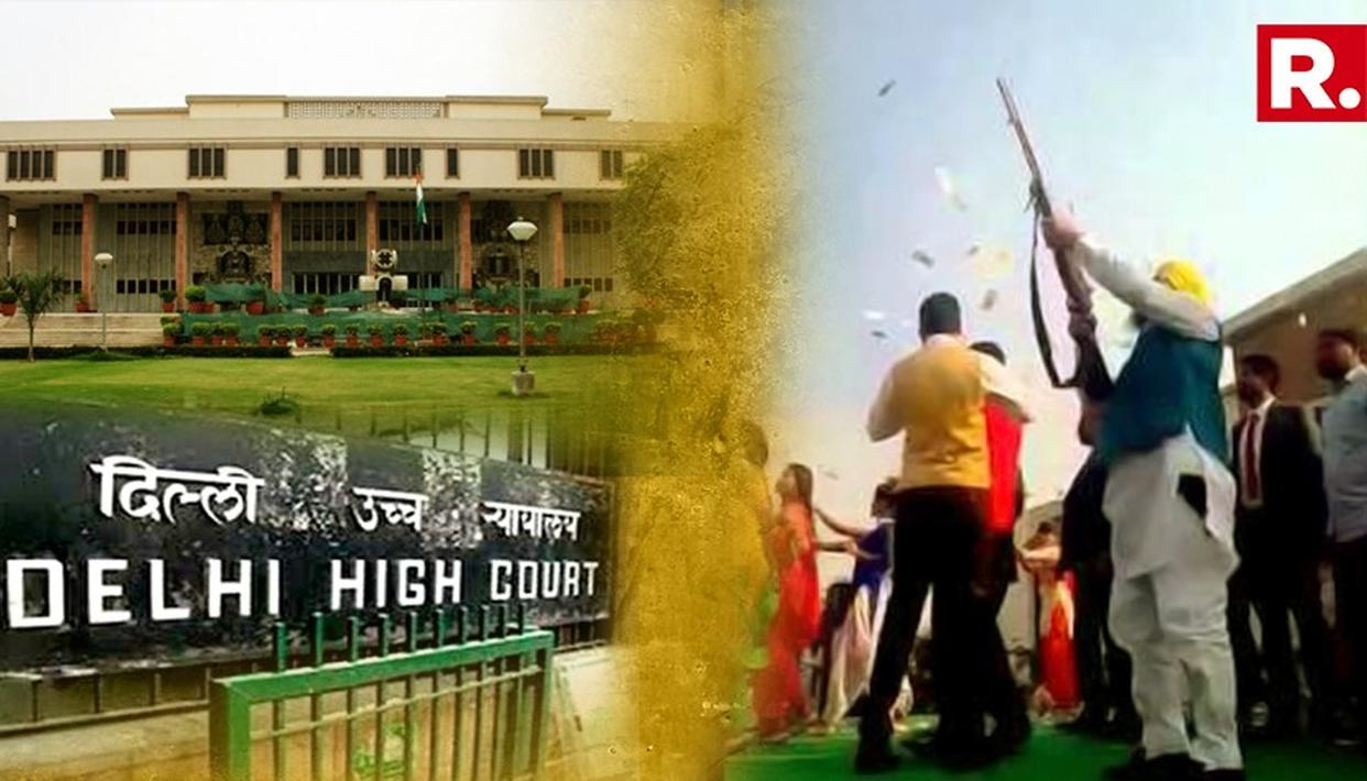 ''Organiser Of Event Where Celebratory Firing Takes Place Would Also Be Responsible For Any Mishap'' Says Delhi High Court