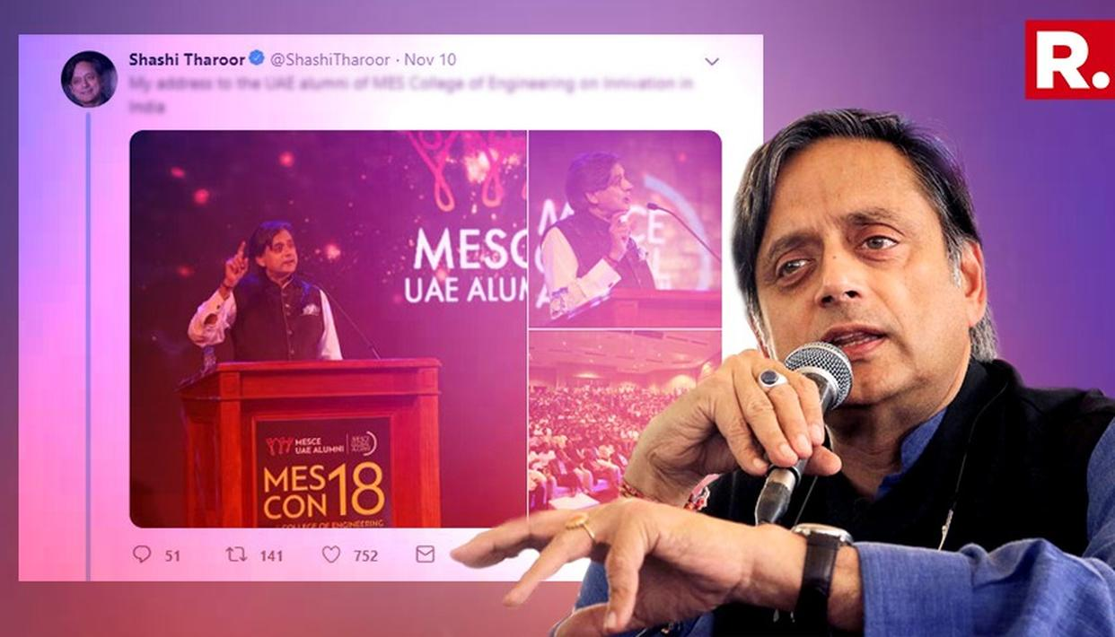 THAROOR MAKES SPELLING ERROR; TWITTERATI CONFIRM IT'S NOT A WORD