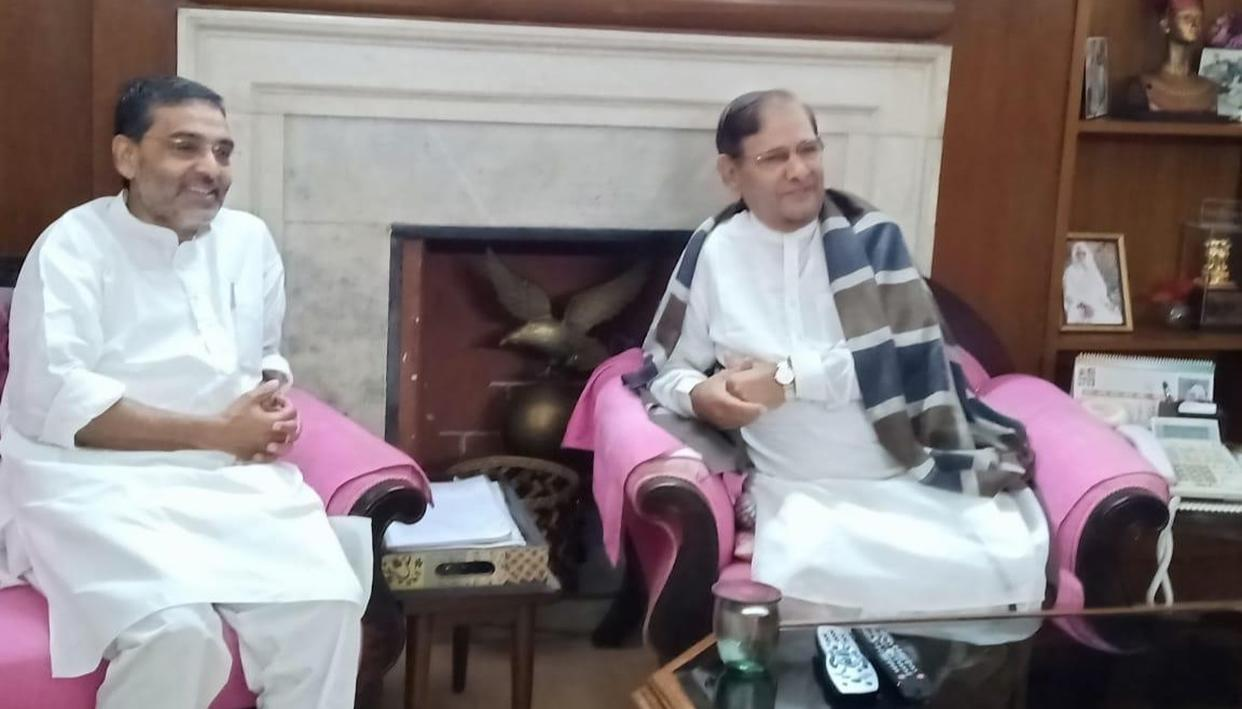 शरद यादव से मिले उपेंद्र कुशवाहा, बोले- नीतीश कुमार मुझे और मेरी पार्टी को खत्म करना चाहते हैं...