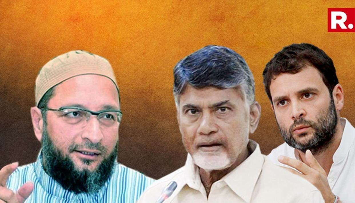 OWAISI RESPONDS TO NAIDU; ASKS QUESTIONS ABOUT CONGRESS HANDSHAKE
