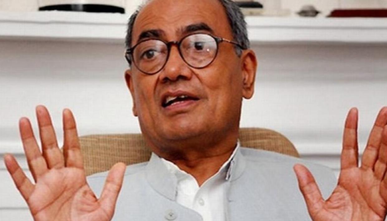 दिग्विजय सिंह बोले - भगवान राम खुद भी नहीं चाहेंगे कि विवादास्पद स्थल पर बने उनका मंदिर...