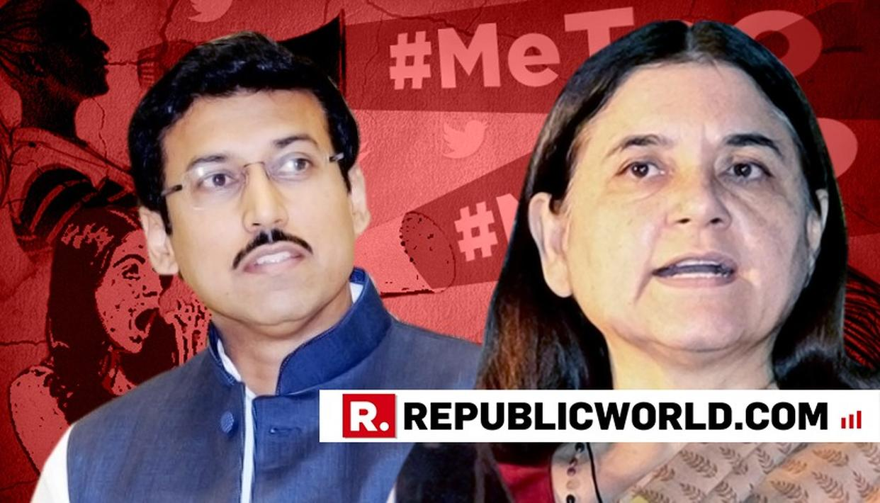 MANEKA GANDHI WRITES TO RAJYAVARDHAN RATHORE OVER SEXUAL HARASSMENT CASES IN AIR