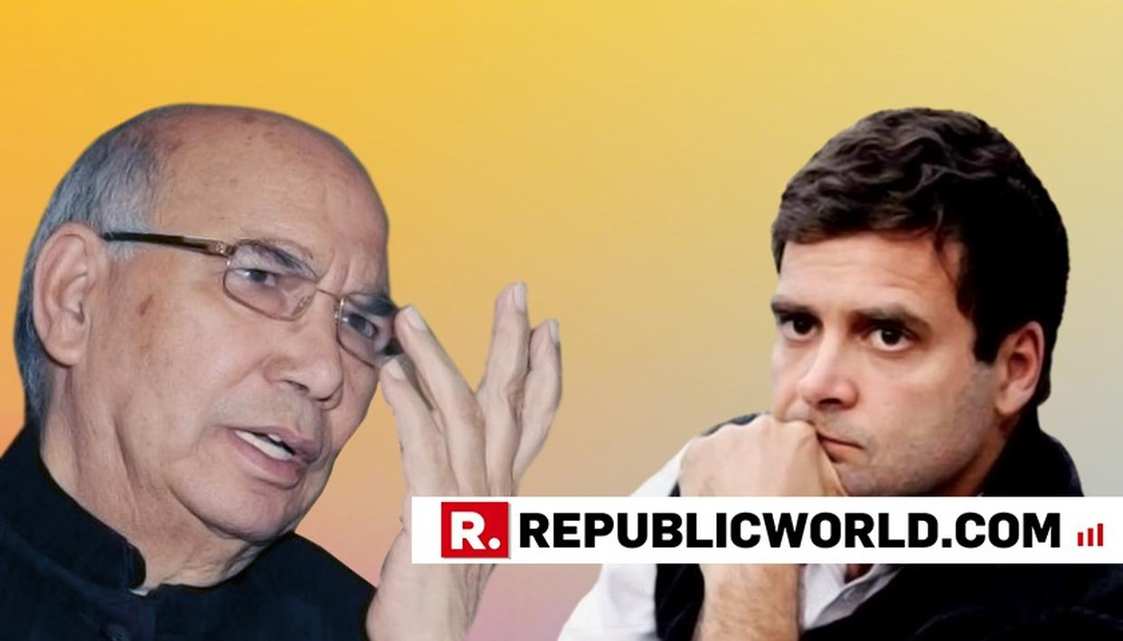 RAHUL NOT A LEADER TILL HE GETS PEOPLE'S MANDATE: CONGRESS LEADER HANSRAJ BHARADWAJ