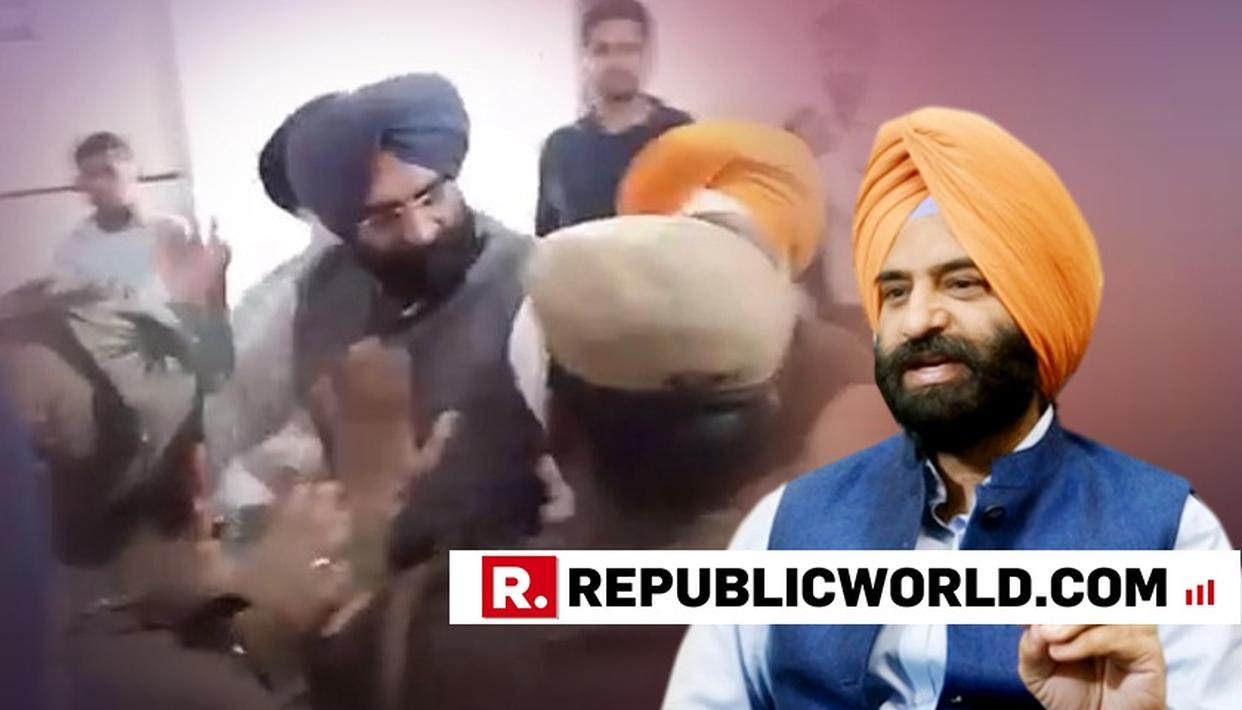 VISUALS OF MANJINDER SINGH SIRSA ATTACKING 1984 RIOTS CONVICT IN PATIALA COURT ACCESSED