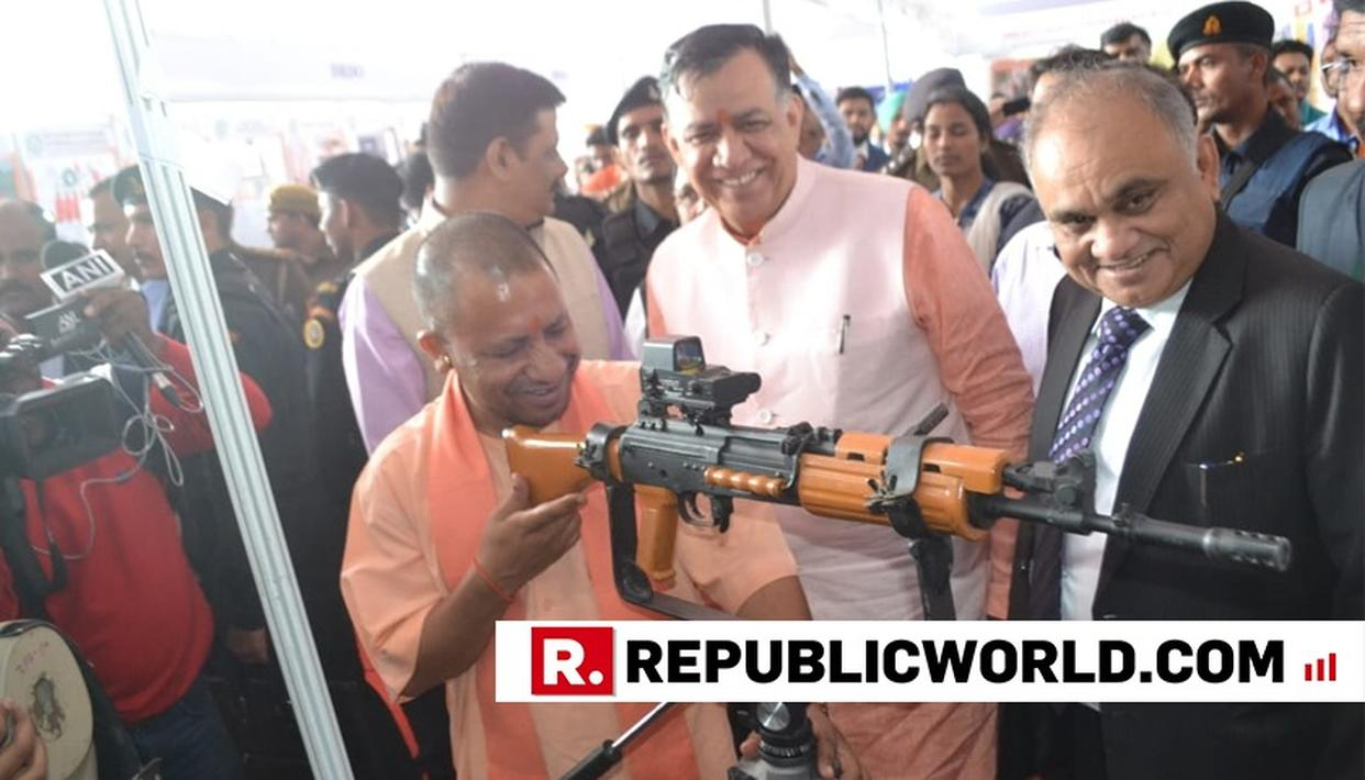 UP CM YOGI ADITYANATH INSPECTS FIREARMS. HERE'S WHY