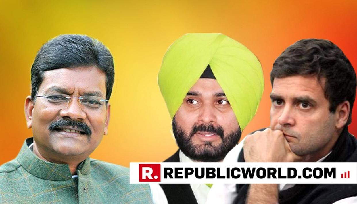 SIDHU REVEALS CONGRESS' CHHATTISGARH CM FACE