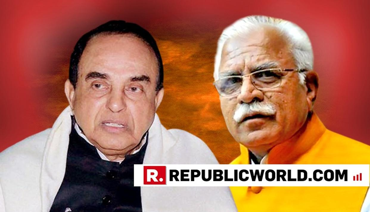 SUBRAMANIAN SWAMY BACKS MANOHAR LAL KHATTAR FOR HIS COMMENT ON RAPE VICTIMS