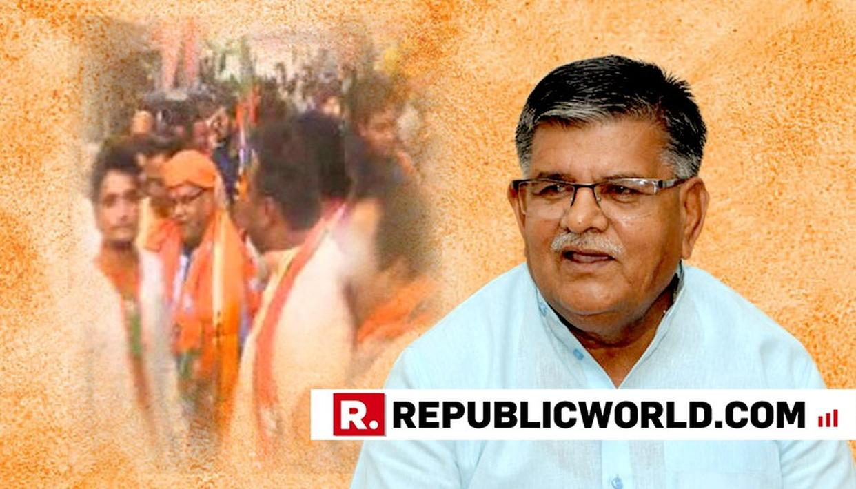BJP MINISTER ASSAULTS PARTY WORKER
