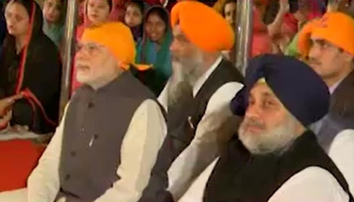 WATCH: PM MODI CELEBRATES GURU NANAK JAYANTI