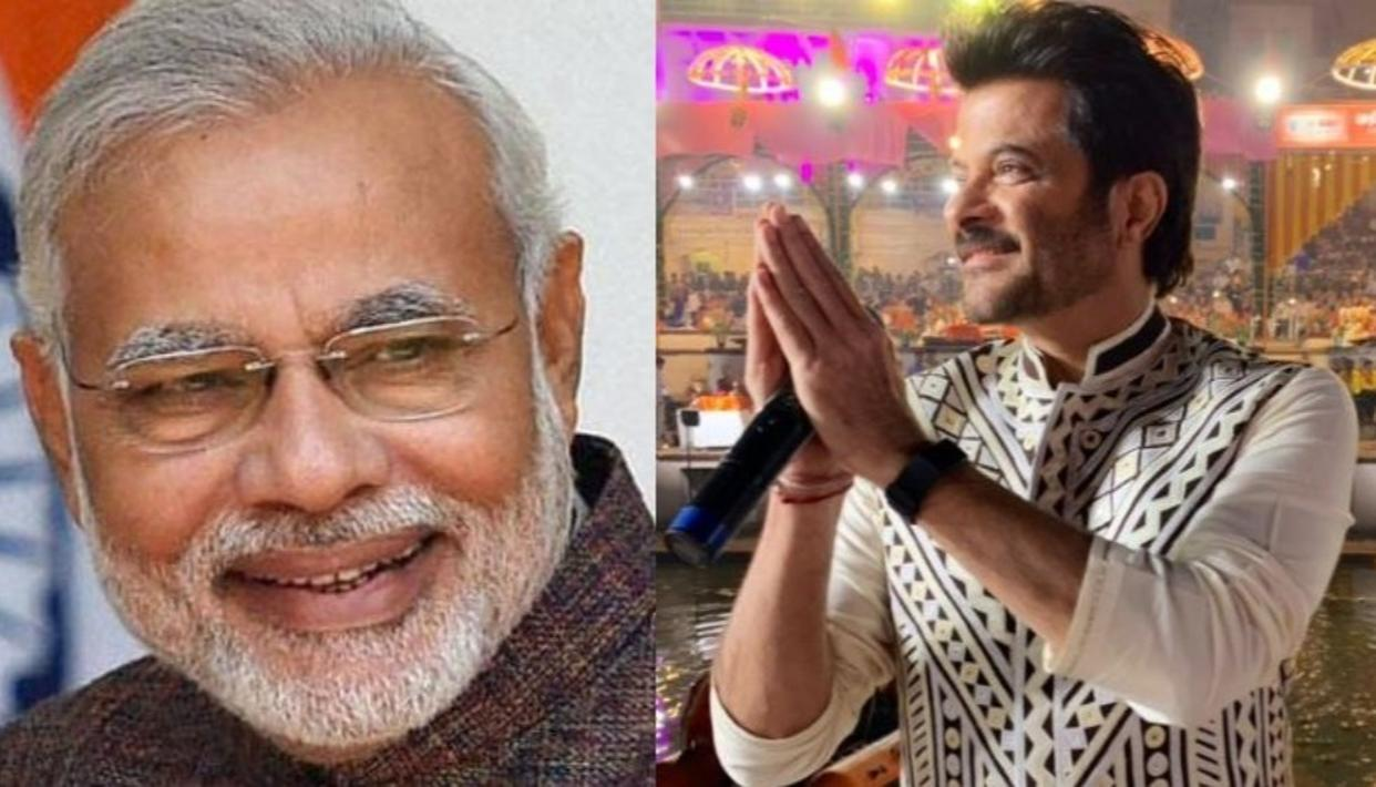 HAPPY THAT YOU ENJOYED YOUR VISIT, SAYS A THRILLED PM MODI TO ANIL KAPOOR'S ENDORSEMENT