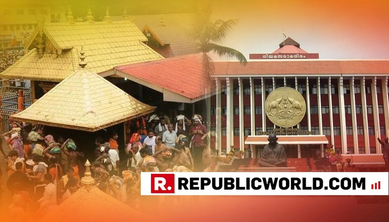 SABARIMALA ISSUE REFLECTS IN KERALA ASSEMBLY AS THE OPPOSITION PARTIES PROTESTED DURING THE ASSEMBLY SESSION