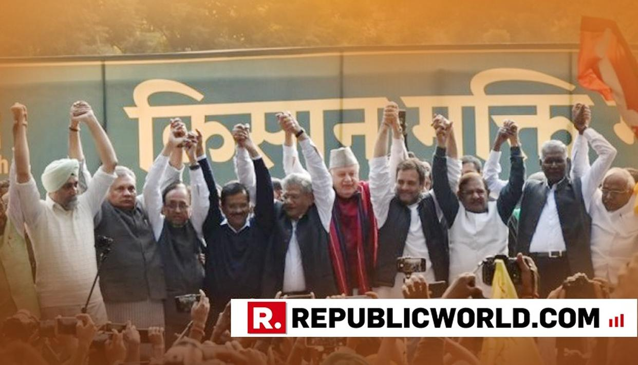 OPPOSITION HIJACKS FARMERS'MARCH IN NEW DELHI, TURNS IT INTO SHOW-OF-STRENGTH PHOTO-OP