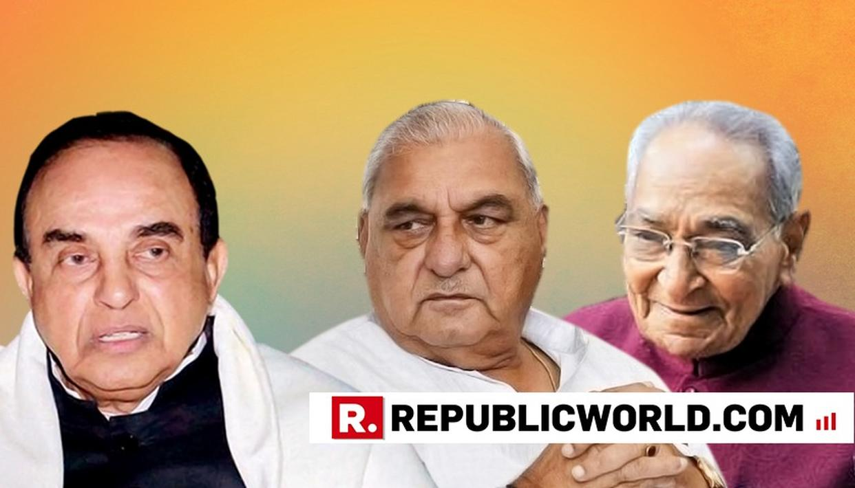 I AM HAPPY: SUBRAMANIAN SWAMY AFTER CBI FILES CHARGESHEET AGAINST BS HOODA AND MOTILAL VORA IN NH CASE
