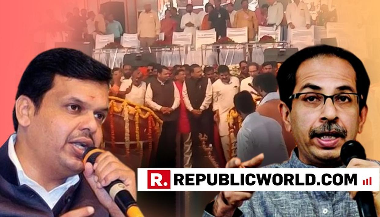 DEVENDRA FADNAVIS AND UDDHAV THACKERAY HAILS EACH OTHER