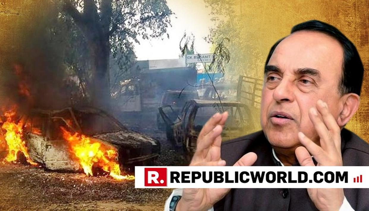 SUBRAMANIAN SWAMY SUSPECTS CONGRESS' HAND IN BULANDSHAHR VIOLENCE