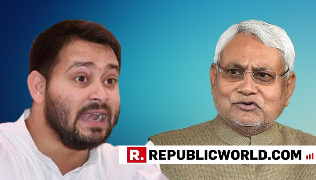 TEJASHWI TRAINS GUNS AT NITISH OVER MOVE TO EVICT HIM FROM BUNGALOW