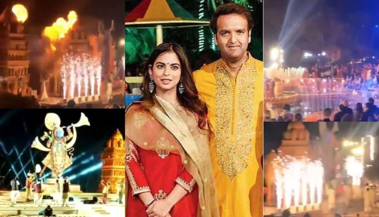 WATCH | ISHA AMBANI-ANAND PIRAMAL PRE-WEDDING EVENTS BEGIN WITH SANDHYA MAHA AARTI IN UDAIPUR
