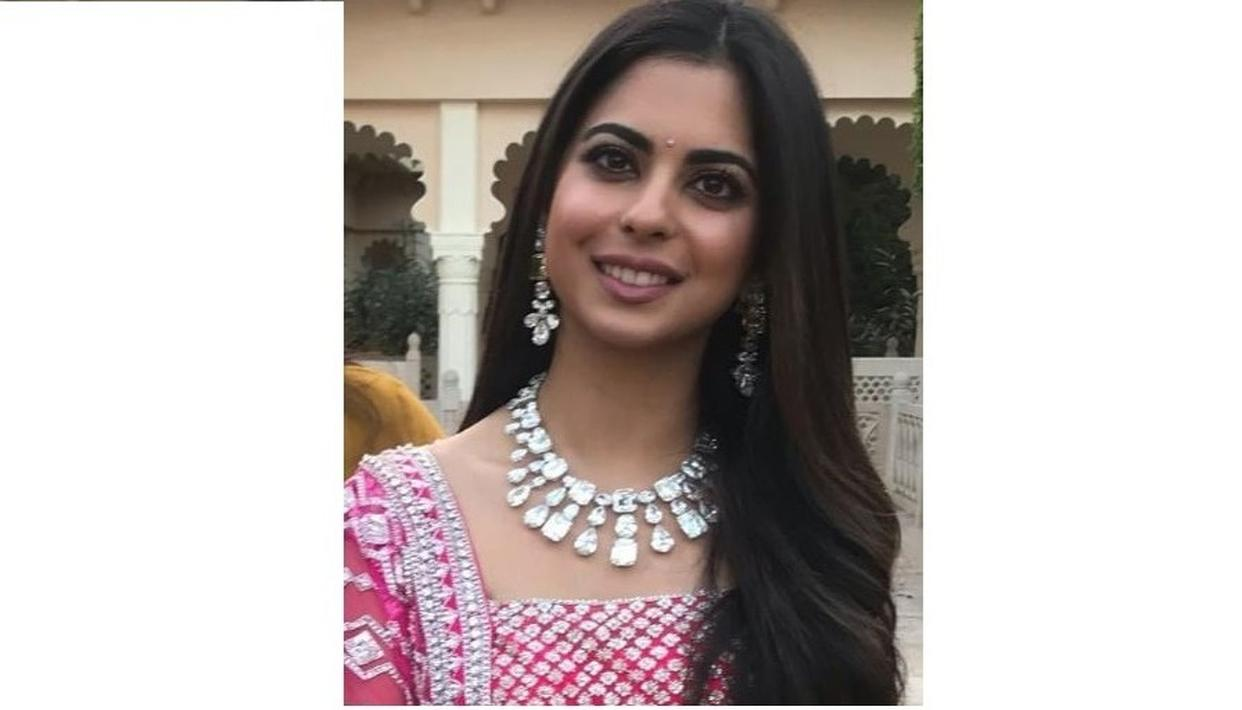 FIRST GLIMPSE OF BRIDE-TO-BE ISHA AMBANI AT HER PRE-WEDDING FESTIVITIES