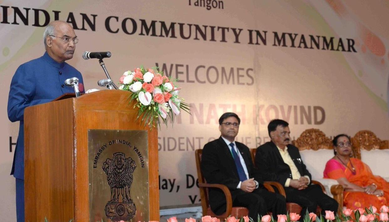 MYANMAR A FOCUS OF INDIA'S FOREIGN POLICIES: PRESIDENT KOVIND