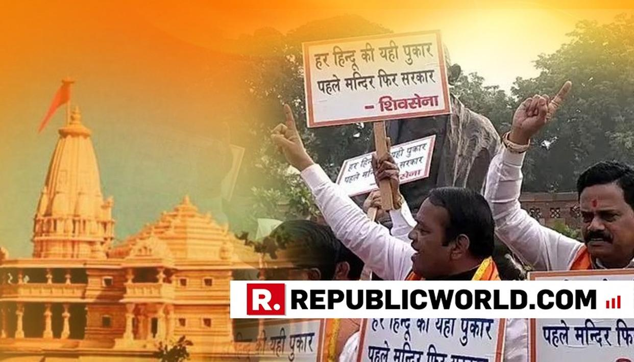 ATFER BJP SETBACK IN HINDI HEARTLAND, ÁLLY' SHIV SENA TAKES 'PEHLE MANDIR, PHIR SARKAR' DEMAND TO PARL
