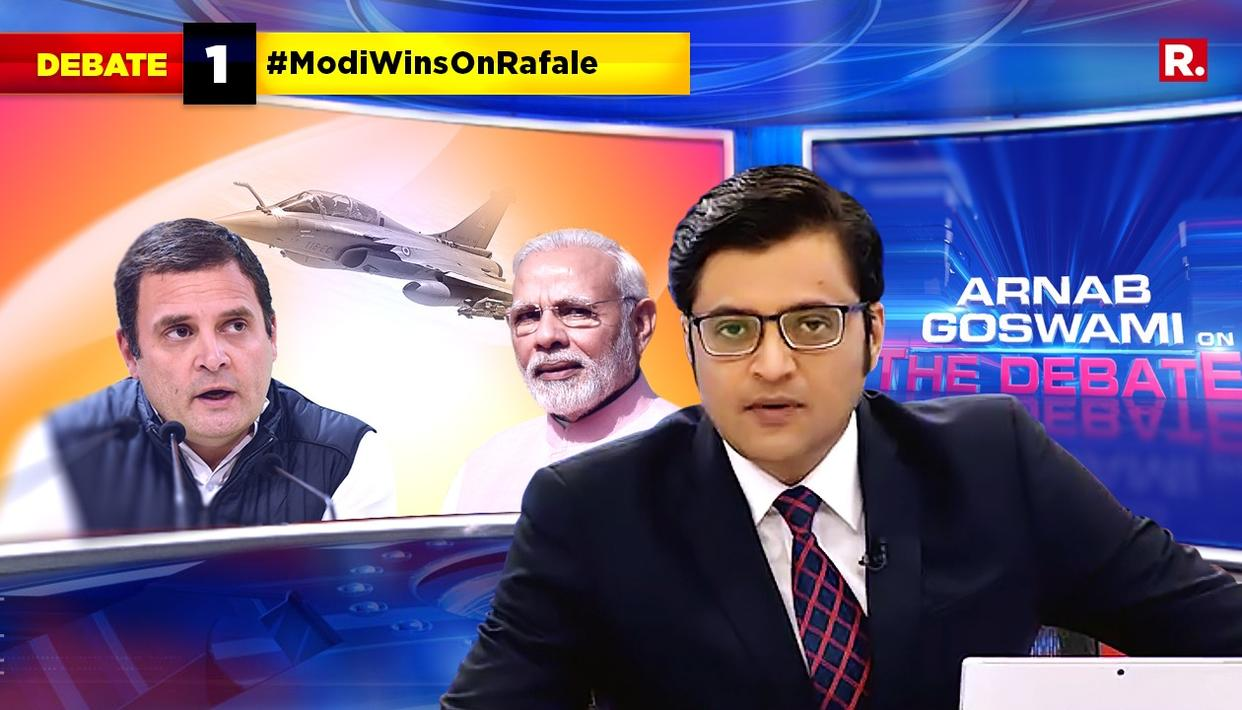 "WATCH: ""RAFALE - A LUTYENS GENERATED SCRIPT THAT HAS FALLEN FLAT"", SAYS ARNAB AS SUPREME COURT DISMISSES PETITIONS"