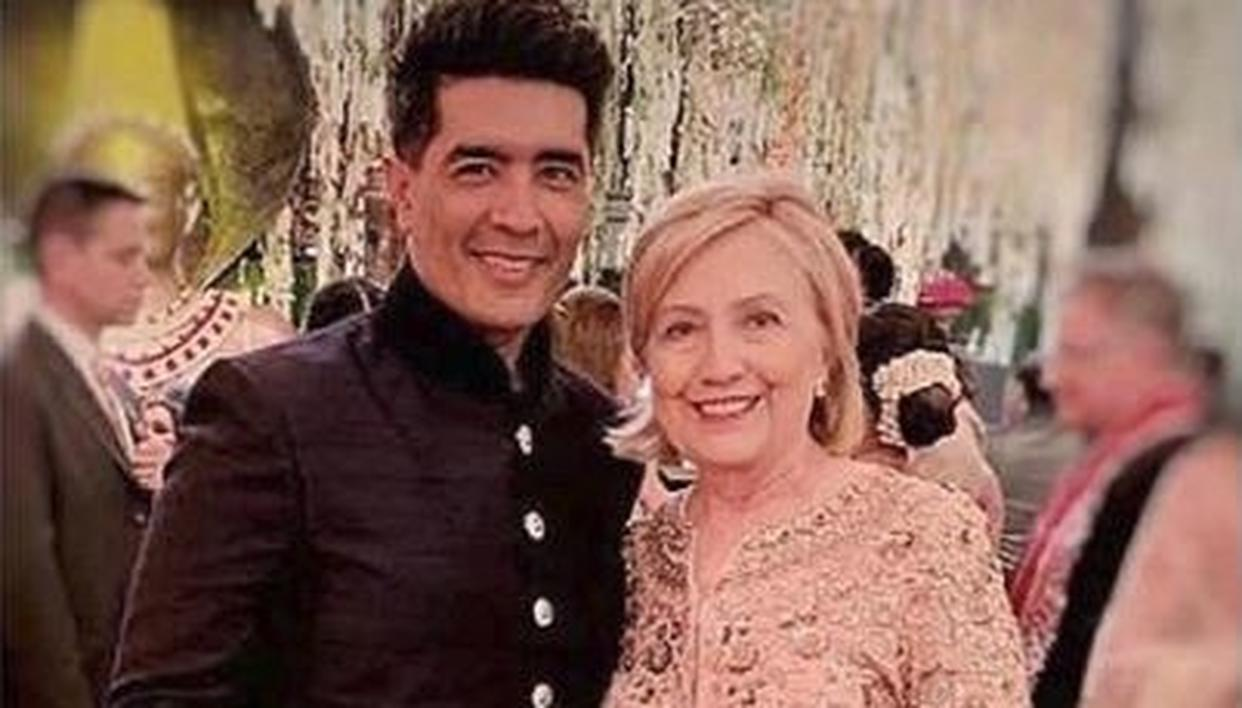 HERE'S ALL YOU NEED TO KNOW ABOUT FORMER US FIRST LADY HILLARY CLINTON'S TRADITIONAL ATTIRES FROM ISHA AMBANI'S WEDDING FESTIVITIES