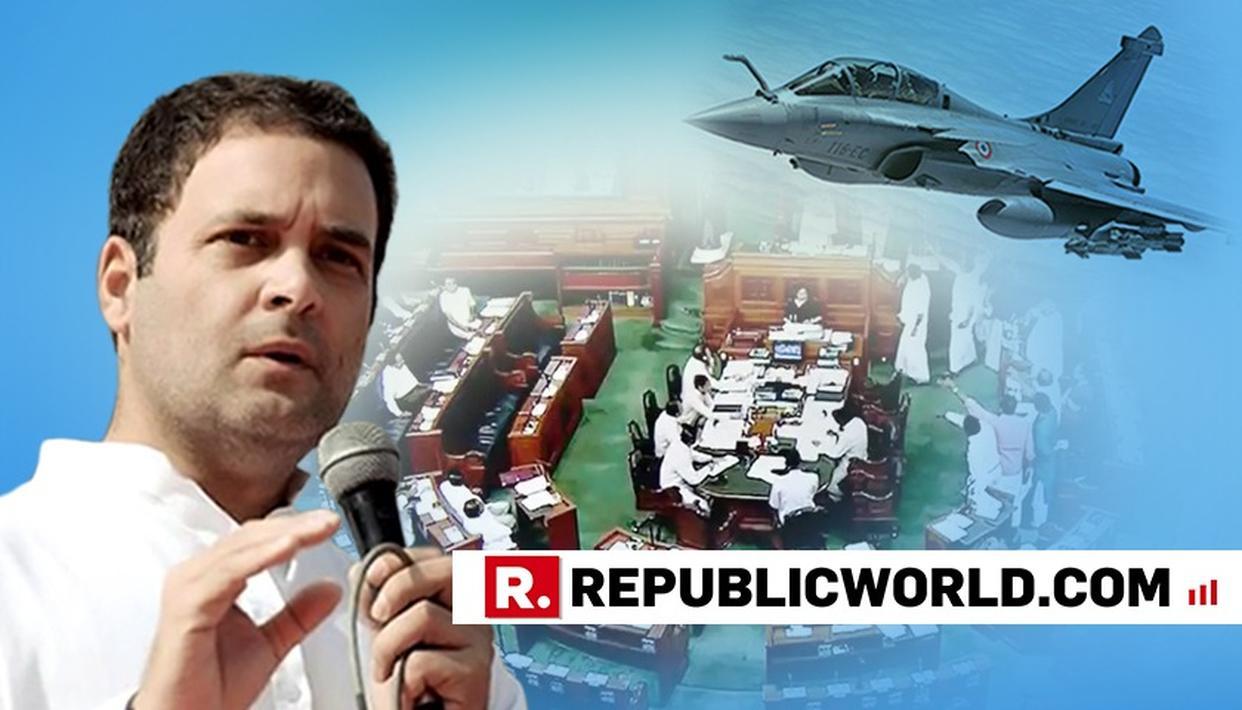 BJP MOVES PRIVILEGE MOTION AGAINST CONGRESS PRESIDENT RAHUL GANDHI IN LOK SABHA OVER RAFALE ISSUE