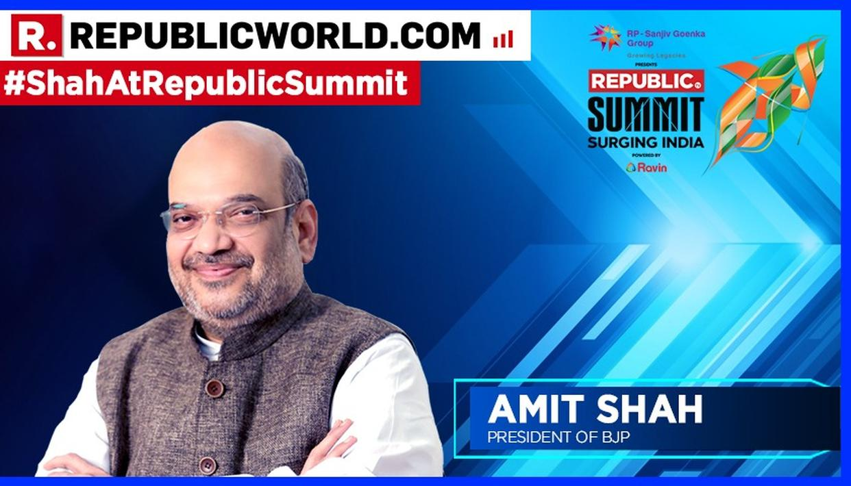 'MAHAGATBANDHAN IS A CONFUSION, THEY CAN'T HELP EACH OTHER': AMIT SHAH AT REPUBLIC SUMMIT