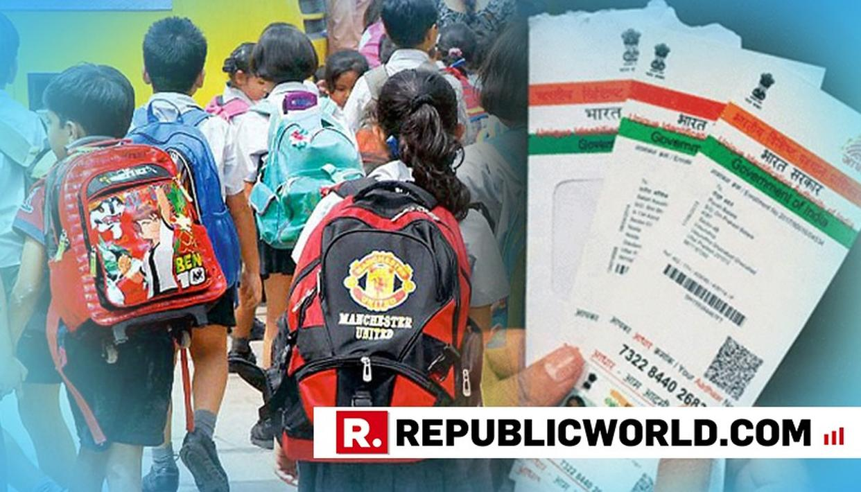 UIDAI CAUTIONS SCHOOLS NOT TO INSIST ON AADHAR FOR ADMISSION