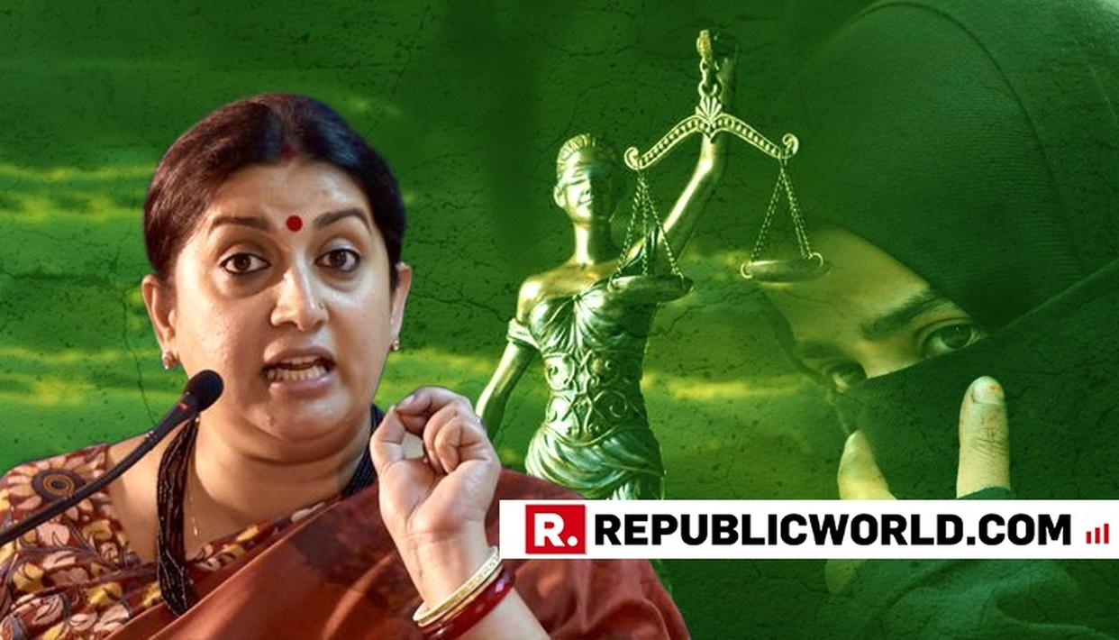 """TRIPLE TALAQ HAS BEEN FOUND BAD IN THEOLOGY, AND SC, I BESEECH THIS HOUSE TO FIND IT BAD IN LEGISLATION ALSO,"" SAYS UNION MINISTER SMRITI IRANI AT LOK SABHA"