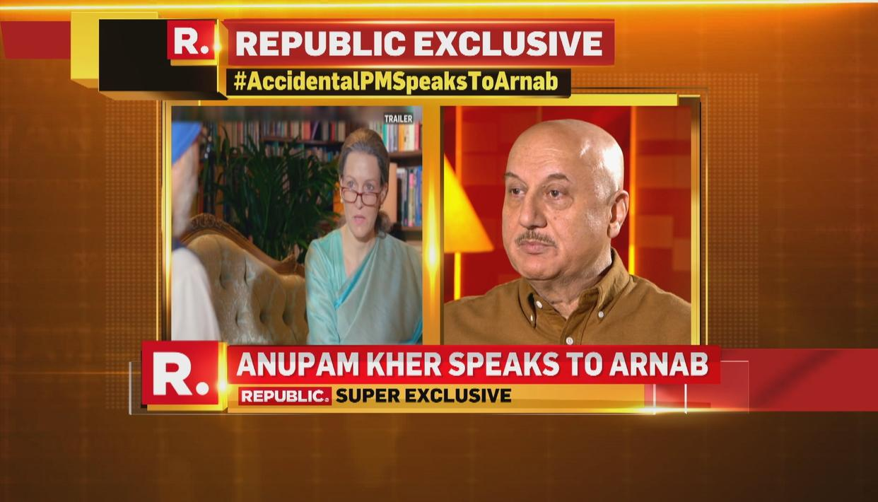 WATCH: ANUPAM KHER SPEAKS ABOUT UPA CHIEF SONIA GANDHI'S PORTRAYAL IN 'THE ACCIDENTAL PRIME MINISTER'