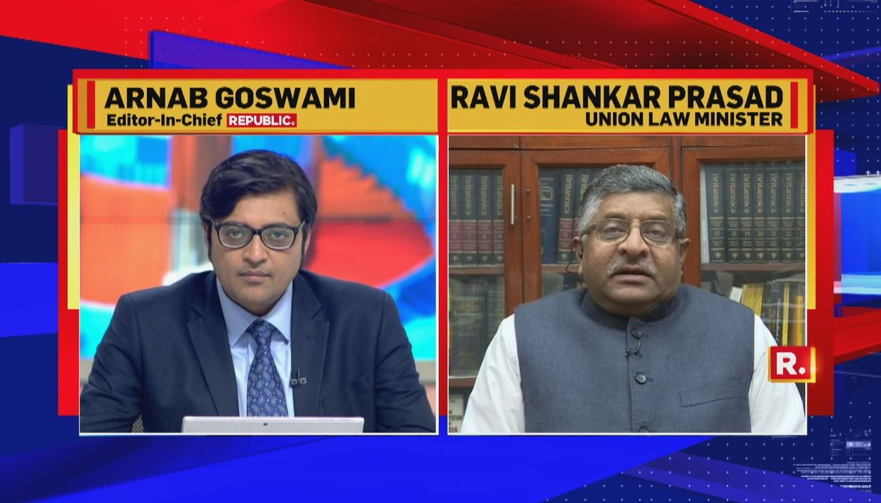 EXCLUSIVE| DON'T PRESUME THAT THERE WILL BE A LONG-TERM MAHAGATHBANDHAN: UNION LAW MINISTER RAVI SHANKAR PRASAD