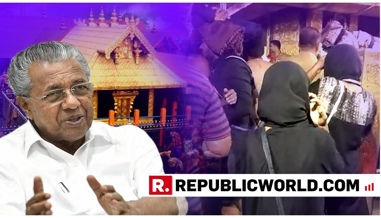 POLICE PROVIDED SECURITY TO WOMEN WHO ENTERED SABARIMALA TEMPLE, SAYS KERALA CM