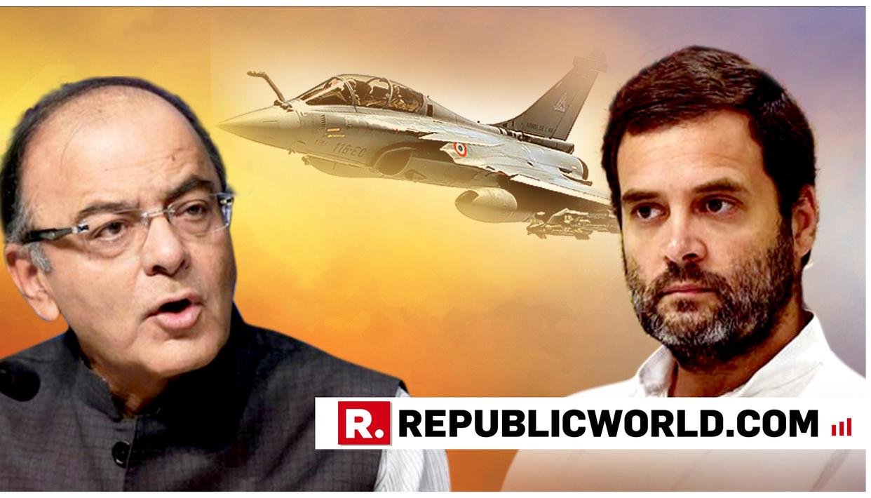 """WATCH: """"DIDN'T RAHUL PLAY ON THE LAP OF A CERTAIN 'MR Q'"""", SAYS ARUN JAITLEY REMINDING CONGRESS OF BOFORS"""