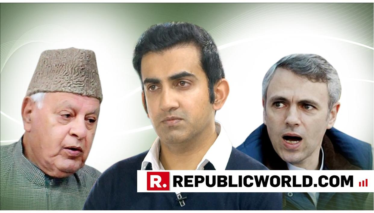 GAUTAM GAMBHIR TAKES ON ABDULLAHS, SAYS THEY'VE FAILED TO FIND A SOLUTION TO KASHMIR DESPITE LEADING IT FOR A LONG TIME