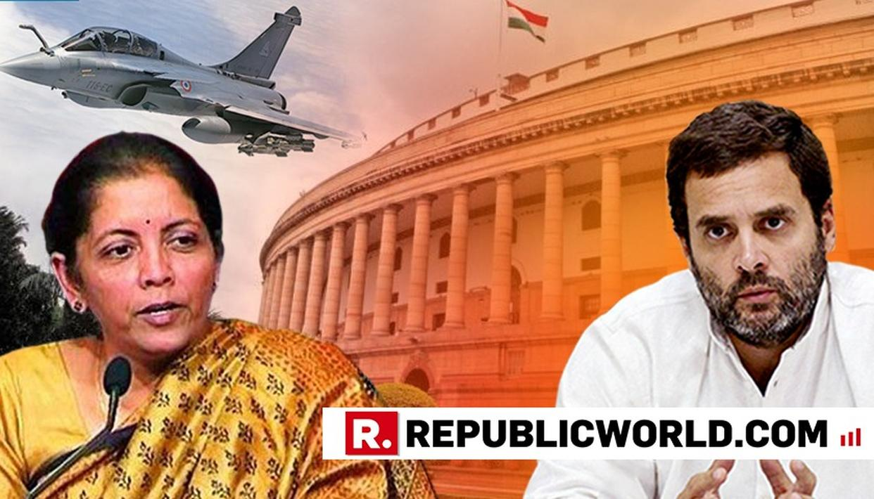 """WATCH: """"FOR EVERY AA THERE IS AN RV AND A Q, LET'S NOT FORGET,"""" NIRMALA SITHARAMAN REMINDING RAHUL GANDHI """"JOKES ARE A DOUBLE-EDGED SWORD"""""""