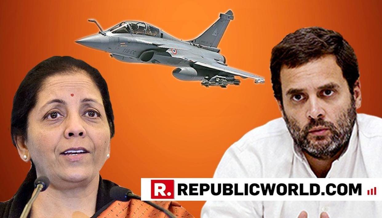 """WATCH: """"THE DEAL DIDN'T SUIT YOU, IT DIDN'T GIVE YOU MONEY"""", SAYS NIRMALA SITHARAMAN TEARING INTO THE UPA'S FAILURE TO COMPLETE THE RAFALE PURCHASE"""