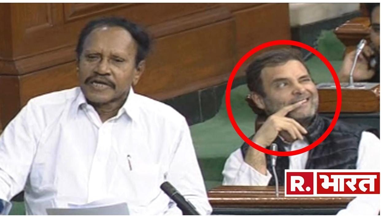 देखें VIDEO: राफेल मुद्दे पर बहस के बीच राहुल गांधी ने संसद में फिर से मारी आंख