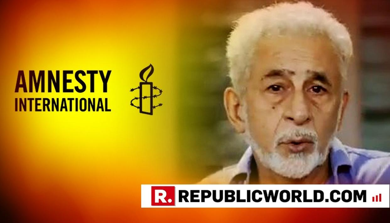 "AMNESTY CAMPAIGN: 'IF NASEERUDDIN SHAH CAN'T DIFFERENTIATE BETWEEN URBAN NAXALS AND REAL ARTISTS, THAT'S HIS PROBLEM,"" SAYS ASHOKE PANDIT"