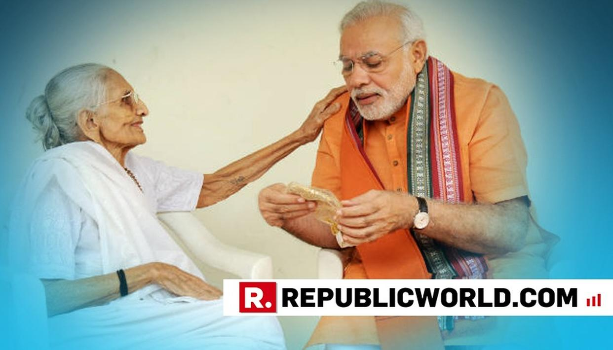 """MOTHER WAS KNOWN FOR HER HEALING TOUCH,"" PM NARENDRA MODI DRAWS A CHUNK OF NOSTALGIA FROM HIS CHILDHOOD"