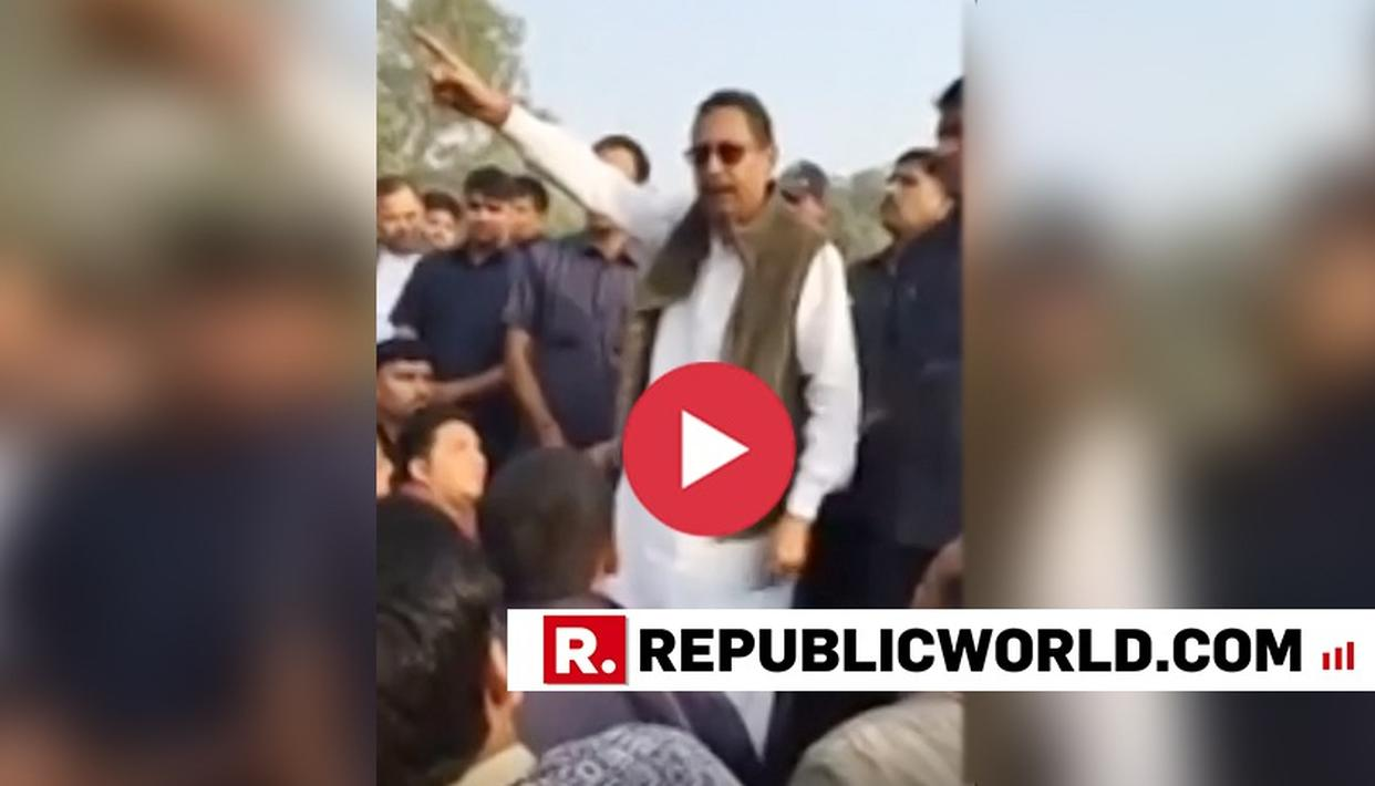 WATCH: RAJASTHAN CONGRESS MINISTER HURLS ABUSES AT COP