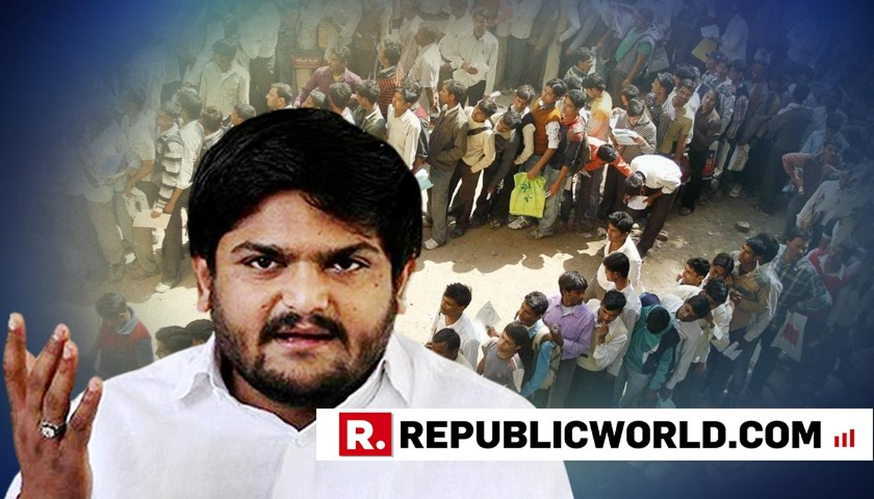 HARDIK PATEL QUESTIONS MODI GOVERNMENT ON 10% QUOTA FOR EWS MOVE, RAISES DOUBT OVER IMPLEMENTATION AND MAKES JUMLA CLAIM