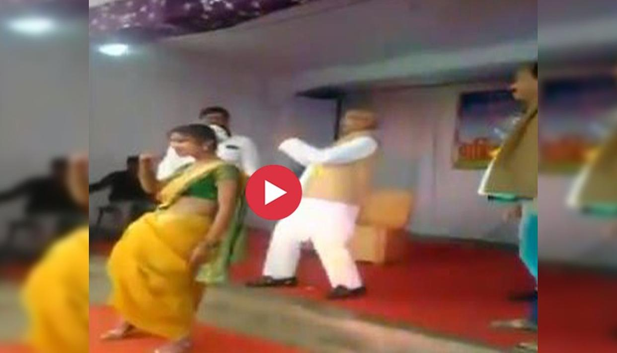 WATCH : NCP MP MADHUKAR KUKDE DANCES ON A BOLLYWOOD NUMBER AT A SCHOOL FUNCTION