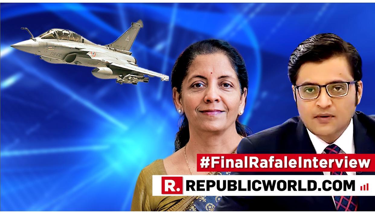 WATCH: FULL #FinalRafaleInterview WITH RAKSHA MANTRI NIRMALA SITHARAMAN
