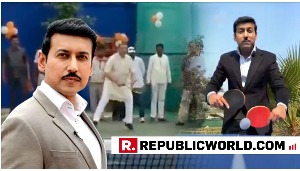 WATCH: THE FIRST MINISTER TO RESPOND TO COL RAJYAVARDHAN RATHORE'S '5 MINUTE AUR' CHALLENGE HAS SENT IN A CRACKING VIDEO