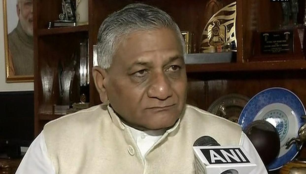 VK SINGH ACCUSES CONGRESS OF GIVING MISINFORMATION TO NATION OVER RAFALE