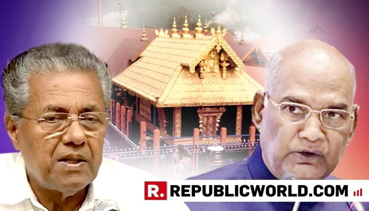 BJP TAKES SABARIMALA FIGHT TO PRESIDENT, ACCUSES KERALA GOVT OF APPEASEMENT