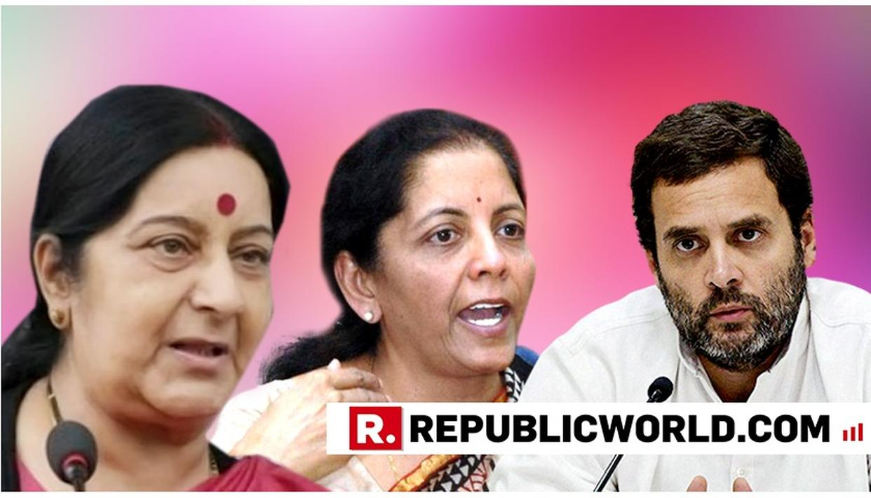 SUSHMA SLAMS RAHUL FOR SEXIST REMARKS