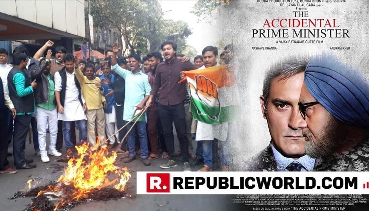 WATCH | CONGRESS WORKERS IN KOLKATA SLOGANEER, BURN PM MODI'S EFFIGY TO PROTEST RELEASE OF 'THE ACCIDENTAL PRIME MINISTER'