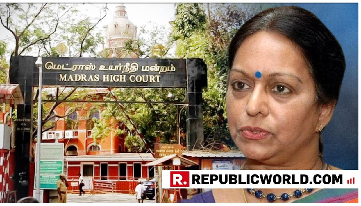 MADRAS HIGH COURT GRANTS NALINI CHIDAMBARAM INTERIM PROTECTION FROM ARREST
